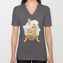 Keep your paradise in your heart Unisex V-Neck