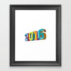 2016 New Year Low Polygon Framed Art Print