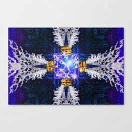 Embrace Ultramarine Canvas Print