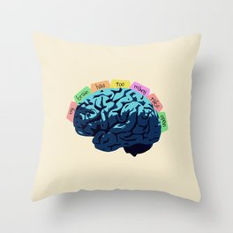 My Brain Has Too Many Tabs Open Throw Pillow