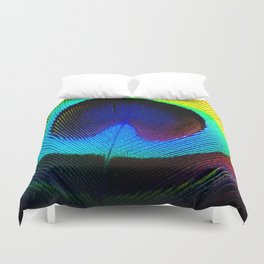 Colorfull Feather Peacock Duvet Cover