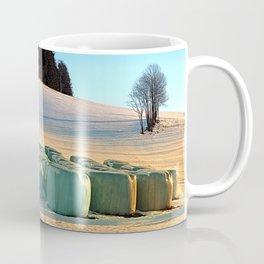 Hay bales in winter wonderland | landscape photography Coffee Mug