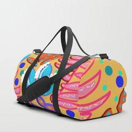 Whimsical Leaves Pattern Duffle Bag