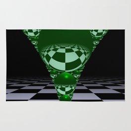 Apollonian gasket - green Rug