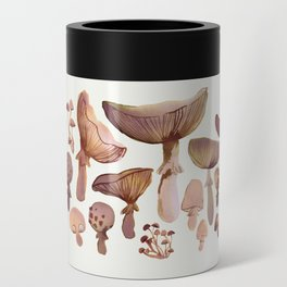Watercolor Mushrooms Can Cooler
