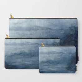 Indigo Abstract Painting | No.2 Carry-All Pouch