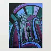 neon Canvas Prints featuring NEON by Deyana Deco