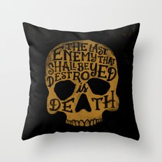 Last Enemy Throw Pillow