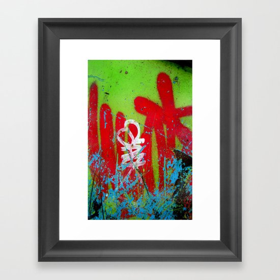 Jardin De Graffiti Framed Art Print
