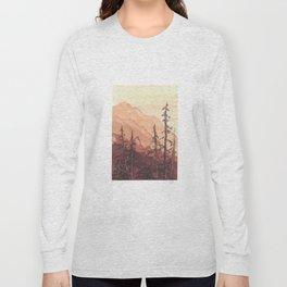 Tonal Mountain Study Quinacrodone Gold Long Sleeve T-shirt