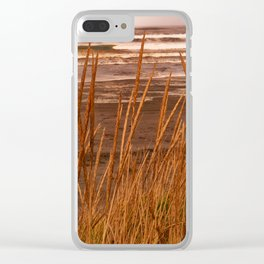 Ocean Waves Viewed from the Beach Clear iPhone Case