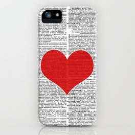 """Heart"" Dictionary Page – Original Digital Art Print iPhone Case"
