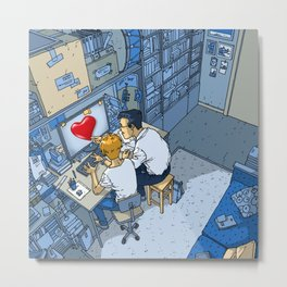 Finding Love - Heart- Passionate - Lovers Metal Print