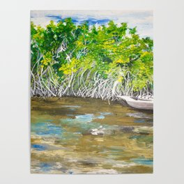 Florida Mangrove Tea Water in the Everglades Poster