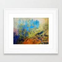 illusion Framed Art Prints featuring Illusion by Christine Scurr