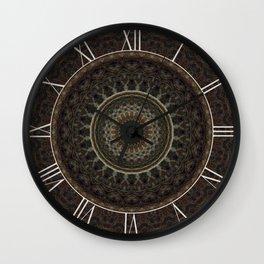 Mandala in brown tones Wall Clock