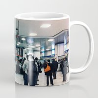 train Mugs featuring train  by Anatomy|Geography