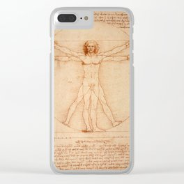 Vitruvian Man (c. 1490) Clear iPhone Case