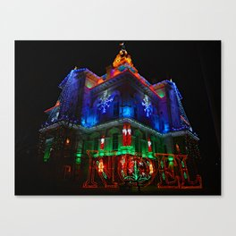 Licking County Courthouse Christmas Canvas Print