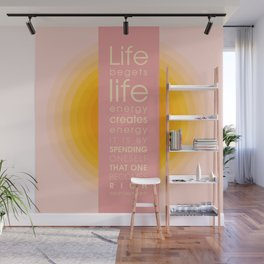 Spend Oneself - Sarah Berndhart Quote Wall Mural