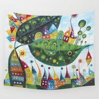 snail Wall Tapestries featuring Snail by Annabies
