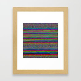 Super_Stripez Framed Art Print
