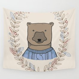 Alpine Adventure - Jack the Bear Wall Tapestry