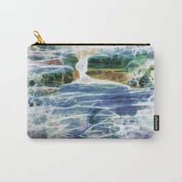 Abstract rock pool in the rough rocks Carry-All Pouch