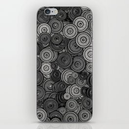 Heavy iron / 3D render of hundreds of heavy weight plates iPhone Skin