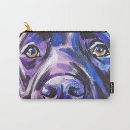 black Labrador Retriever Dog Pop Art by Lea Carry-All Pouch