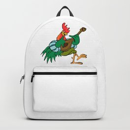 Rooster Playing Guitar Backpack