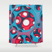 vertigo Shower Curtains featuring Vertigo by Azarias