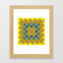 Dot Swatch Equivocated on Yellow Framed Art Print