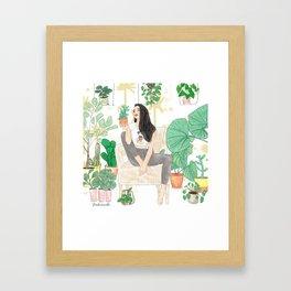 Plants are friends Framed Art Print