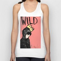 into the wild Tank Tops featuring Wild by Kristina K.