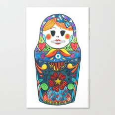 Muertos Matryoshka Doll Canvas Print