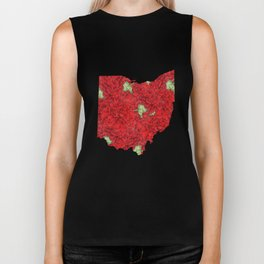 Ohio in Flowers Biker Tank