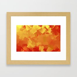 Cubism in orange Framed Art Print