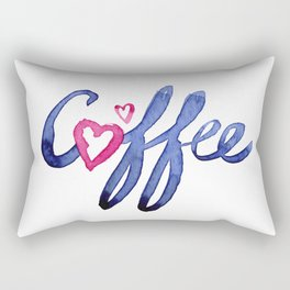 Coffee Lover Typography Rectangular Pillow