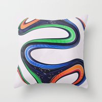 world cup Throw Pillows featuring World Cup 2014 by LCPCS