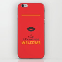 Lab No. 4 - Smile Quotes Typography Poster iPhone Skin