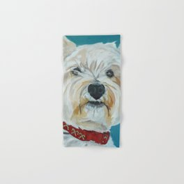 Jesse the Beautiful West Highland White Terrier Dog Portrait Hand & Bath Towel