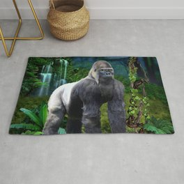Silverback Gorilla Guardian of the Rainforest Rug