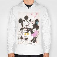 minnie Hoodies featuring Mickey & Minnie by karl oconnor