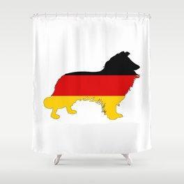 German Flag - Border Collie Shower Curtain