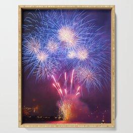 Fireworks on Sydney Harbour Serving Tray