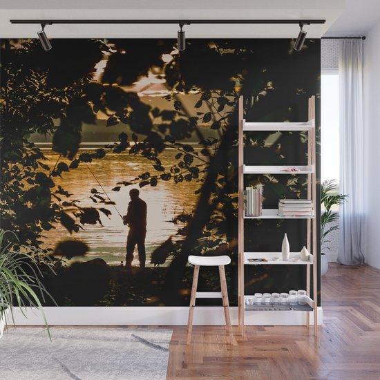 Fishing Wall Mural by svetlanakorneliuk Society6