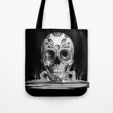 Pulled sugar, day of the dead skull Tote Bag