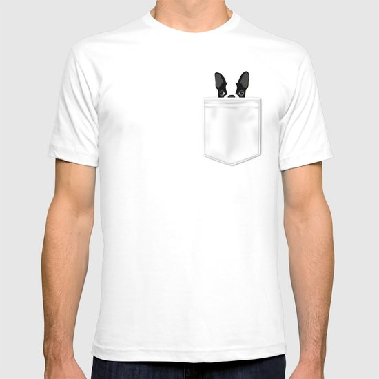 Pocket boston terrier t shirt by anne was here society6 for Boston rescue 2 t shirt