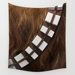Chewie Wookie Utility Belt - Gold Edition Wall Tapestry